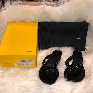 💯% authentic Women's Fendi Black sandals